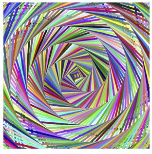 89 degrees (left square spiral)